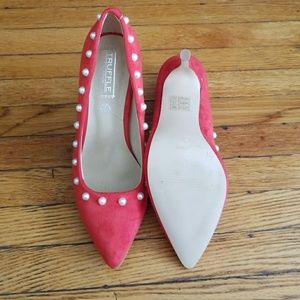 Truffle Shoes - Pink and Pearl Truffle Heels